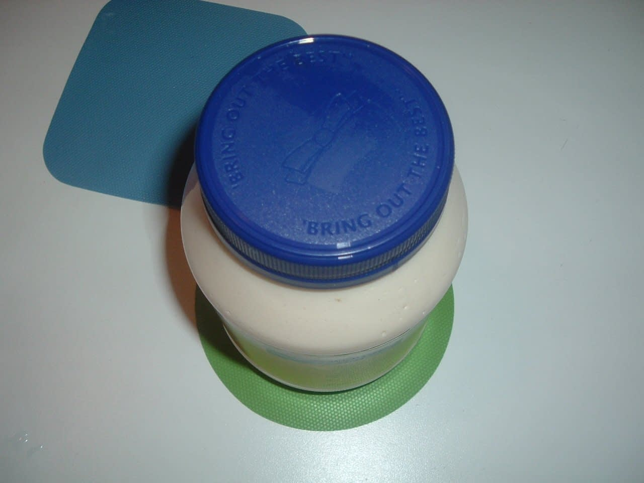 one rubber gripper can be placed under the jar, the other one - on the lid